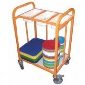 School Canteen Compact Cutlery Storage Trolley