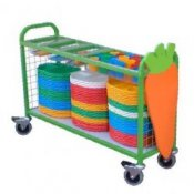 School Canteen Large Cutlery Collection Trolley