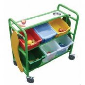 Large School Canteen Fruit Storage & Serving Trolley