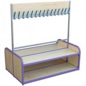School Cloakroom Double Sided Coat & Storage Bench