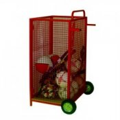 School Sports Equipment Upright Ball Cage Trolley