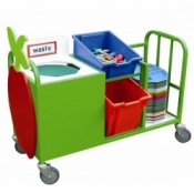 School Canteen Small Cutlery Collection & Clearing Trolley