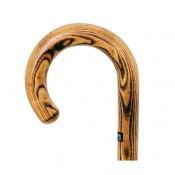 Scorched Acacia Crook Handle Walking Stick