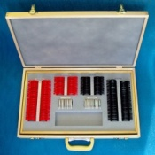 Trial Lens Set  with Plastic Rims in a Wooden Case