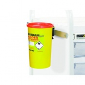 Daniels Sharps Bin Holder for Sunflower Medical Vista Storage Trolleys