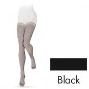Sigvaris Intrigue Thigh Class 2 Black Compression Stockings