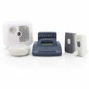 Silent Alert SA3000 Hard of Hearing Smoke, Telephone and Doorbell Alarm Pack with Alarm Clock Charger