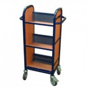 Compact Single Sided Mobile Library Book Storage Trolley