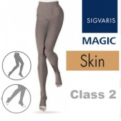 Sigvaris Magic Class 2 Open Toe Compression Tights -Skin