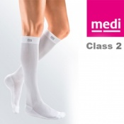 Medi Mediven Active Class 2 White Below Knee Compression Socks for Men
