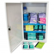 Basic HSE Workplace First Aid Kit Plus in Sofia Metal Cabinet