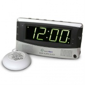 Sonic Alert Dual Alarm Clock with Extra-Loud Alarm and Shaker Pad