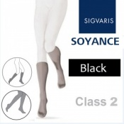 Sigvaris Soyance Calf Class 2 Black Compression Stockings