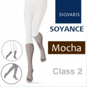 Sigvaris Soyance Calf Class 2 Mocha Compression Stockings