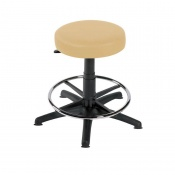 Sunflower Medical Beige Gas-Lift Stool with Foot Ring and Glides