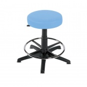 Sunflower Medical Cool Blue Gas-Lift Stool with Foot Ring and Glides