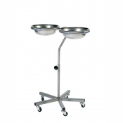 Sunflower Medical Adjustable Height Side by Side Double Bowl Stand