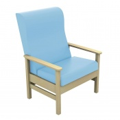Sunflower Medical Atlas Cool Blue High-Back Vinyl Bariatric Patient Armchair