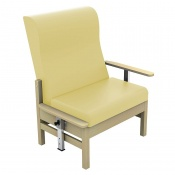 Sunflower Medical Atlas Beige High-Back Intervene Bariatric Patient Armchair with Drop Arms