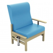 Sunflower Medical Atlas Cool Blue High-Back Vinyl Bariatric Patient Armchair with Drop Arms