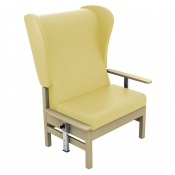 Sunflower Medical Atlas Beige High-Back Intervene Bariatric Patient Armchair with Drop Arms and Wings