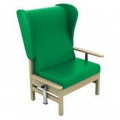 Sunflower Medical Atlas Green High-Back Intervene Bariatric Patient Armchair with Drop Arms and Wings