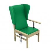 Sunflower Medical Atlas Green High-Back Intervene Patient Armchair with Drop Arms and Wings