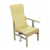 Sunflower Medical Atlas Beige High-Back Intervene Patient Armchair with Drop Arms