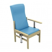 Sunflower Medical Atlas Cool Blue High-Back Vinyl Patient Armchair with Drop Arms
