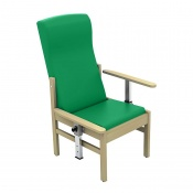 Sunflower Medical Atlas Green High-Back Intervene Patient Armchair with Drop Arms