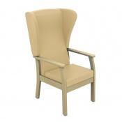 Sunflower Medical Atlas Beige High-Back Intervene Patient Armchair with Wings