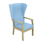 Sunflower Medical Atlas Cool Blue High-Back Vinyl Patient Armchair with Wings