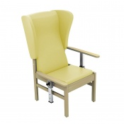Sunflower Medical Atlas Beige High-Back Intervene Patient Armchair with Drop Arms and Wings