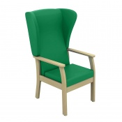Sunflower Medical Atlas Green High-Back Intervene Patient Armchair with Wings