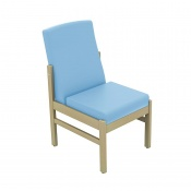 Sunflower Medical Atlas Cool Blue Low-Back Vinyl Patient Side Chair