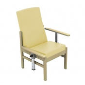 Sunflower Medical Atlas Beige Mid-Back Intervene Patient Armchair with Drop Arms