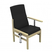 Sunflower Medical Atlas Black Mid-Back Intervene Patient Armchair with Drop Arms