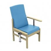 Sunflower Medical Atlas Cool Blue Mid-Back Vinyl Patient Armchair with Drop Arms