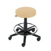 Sunflower Medical Beige Gas-Lift Stool with Foot Ring
