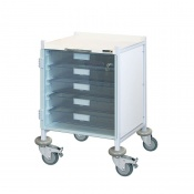 Sunflower Medical Vista 40 Clear Colour Concept Clinical Trolley with Five Single Depth Clear Trays