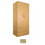 Sunflower Medical Maple Gents Double Wardrobe with Drawers