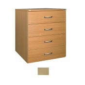 Sunflower Medical Maple Four-Drawer Chest