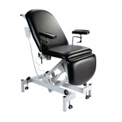 Sunflower Medical Black Fusion Electric Height Phlebotomy Chair with Electric Back and Foot Sections