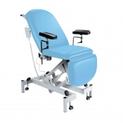 Sunflower Medical Cool Blue Fusion Electric Height Phlebotomy Chair with Electric Back and Foot Sections
