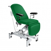 Sunflower Medical Green Fusion Electric Height Phlebotomy Chair with Electric Back and Foot Sections