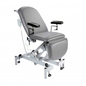 Sunflower Medical Grey Fusion Electric Height Phlebotomy Chair with Electric Back and Foot Sections