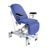 Sunflower Medical Mid Blue Fusion Electric Height Phlebotomy Chair with Electric Back and Foot Sections