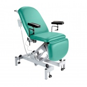 Sunflower Medical Mint Fusion Electric Height Phlebotomy Chair with Electric Back and Foot Sections