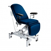 Sunflower Medical Navy Fusion Electric Height Phlebotomy Chair with Electric Back and Foot Sections