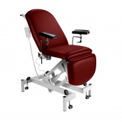 Sunflower Medical Red Wine Fusion Electric Height Phlebotomy Chair with Electric Back and Foot Sections